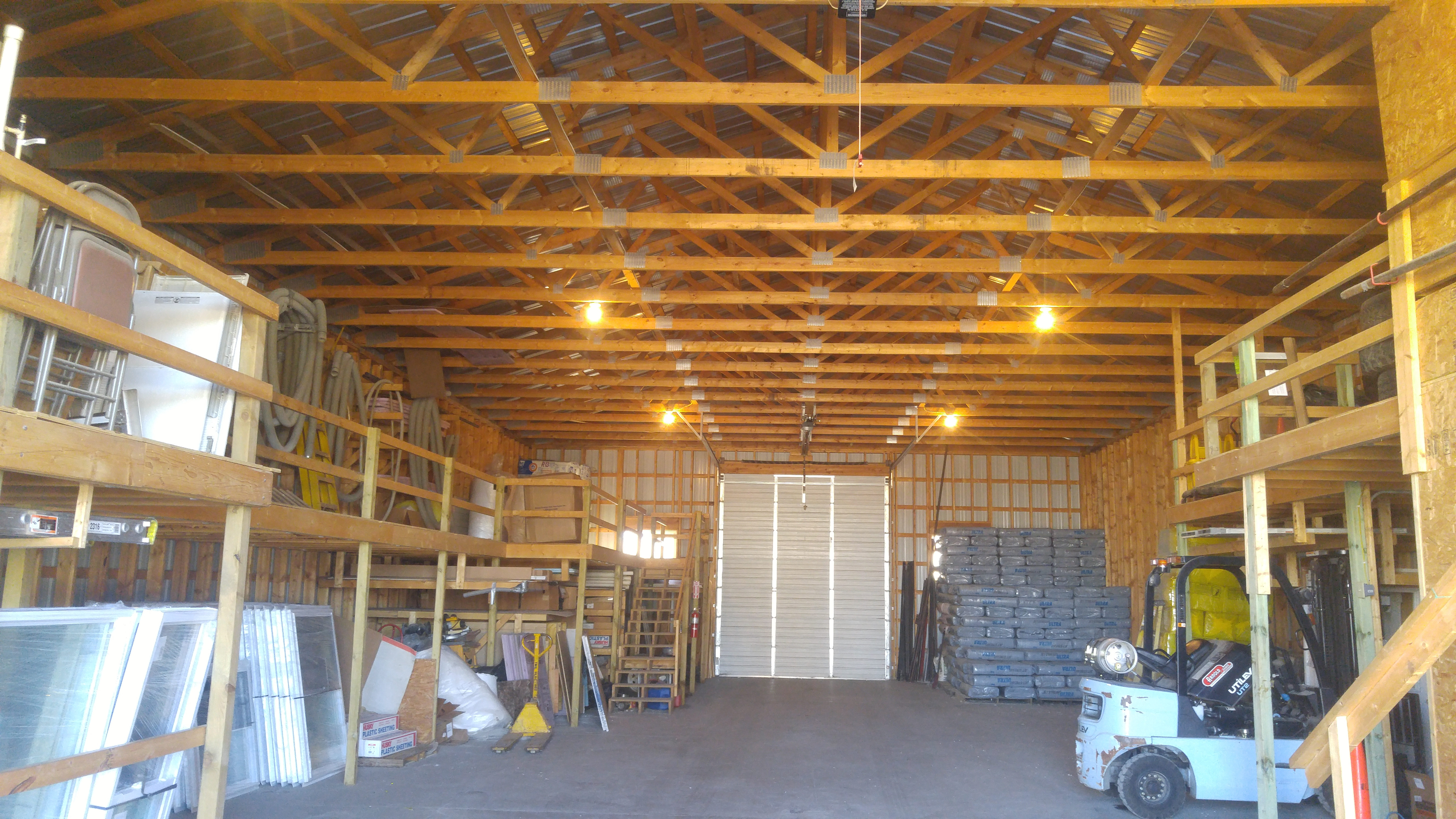 Interior of 80' x 40' Cold Storage